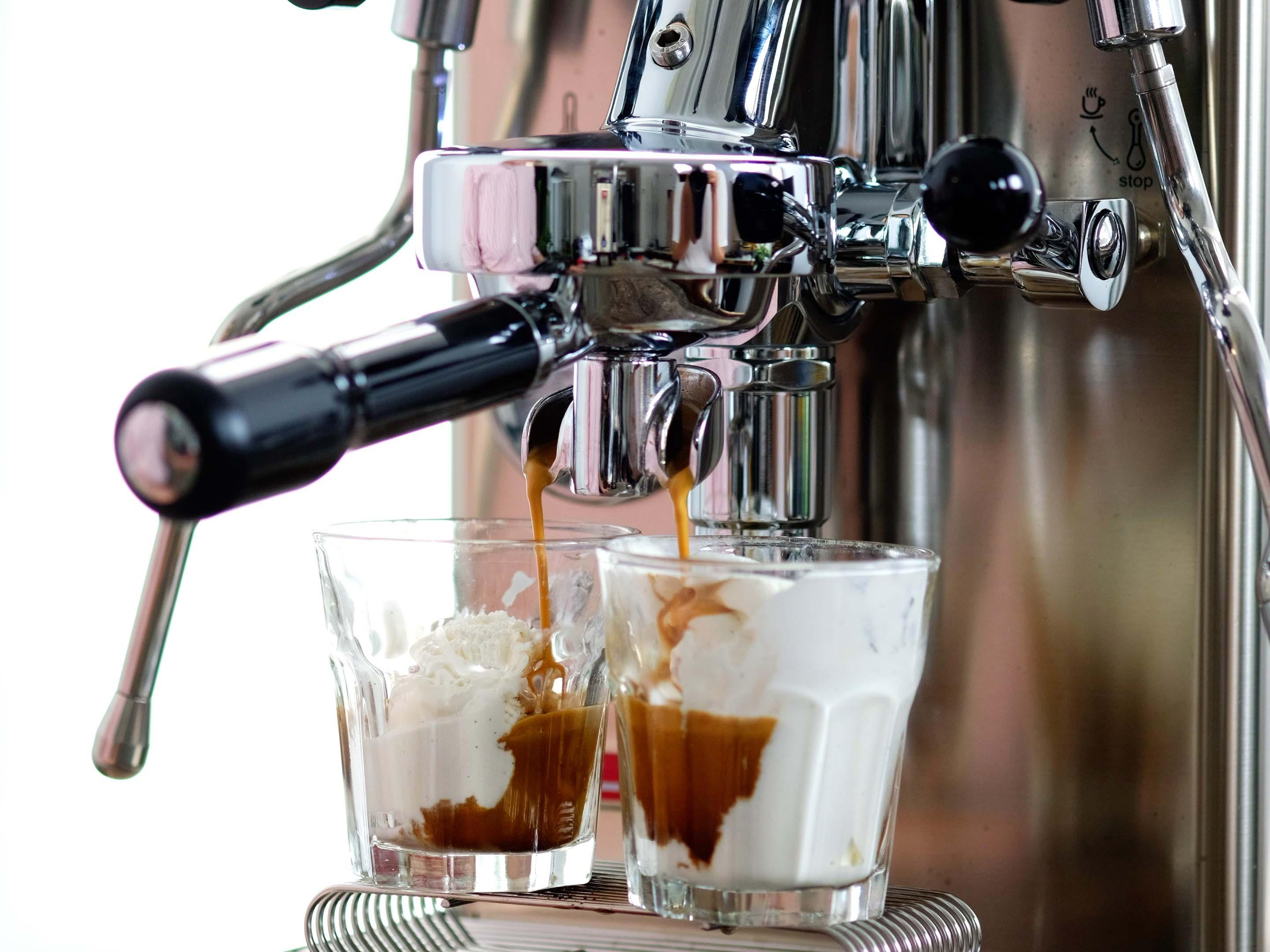 Erfrischender Kaffee im Sommer